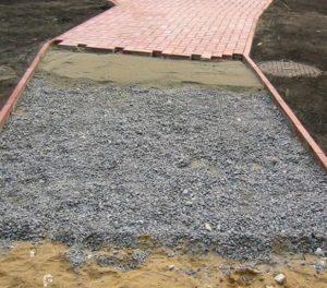 Подготовка площадок для укладки тротуарной плитки