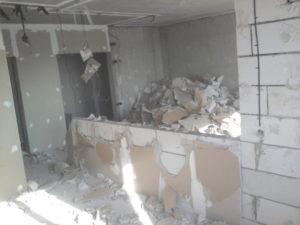 Демонтаж стен из блоков