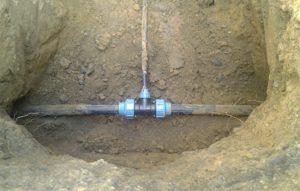 Врезка трубопровода в действующую сеть