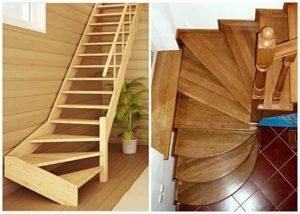 Лестницы с поворотом на 60 и 90 градусов